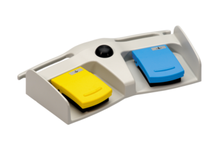 MKF 2-MED GP26 yellow blue push button